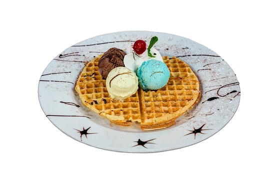 Ice and Spice Cafe: Homemade Waffels with Homemade Ice Cream