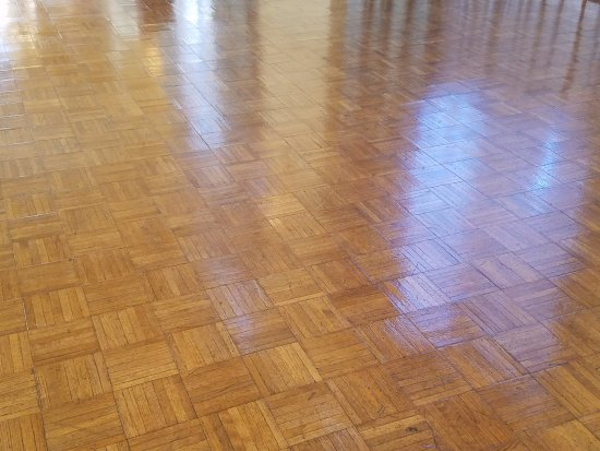 Rock Island, IL: Dance floor all polished and waiting for the first dance or daddy daughter dance
