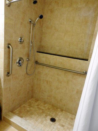 A shower that can be easily utilized. My hubby loved it! - Picture ...