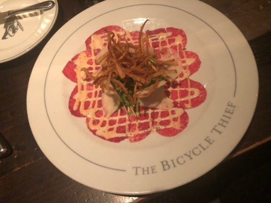 The Bicycle Thief: Beef Carpaccio was Delicious ... matchstick fries!