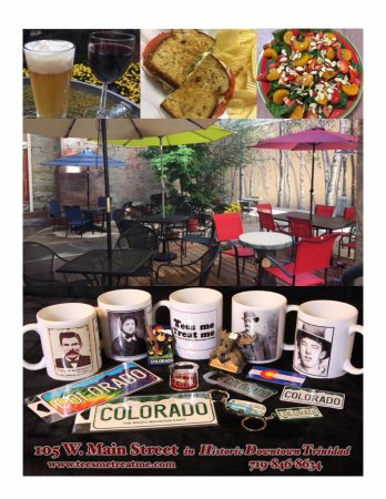 Trinidad, CO: Where you can get Tees, souvenirs, a great lunch & drinks!