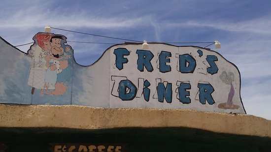 Flintstone's Bedrock City: Fred's Diner is a good place to eat before heading to the Grand Canyon