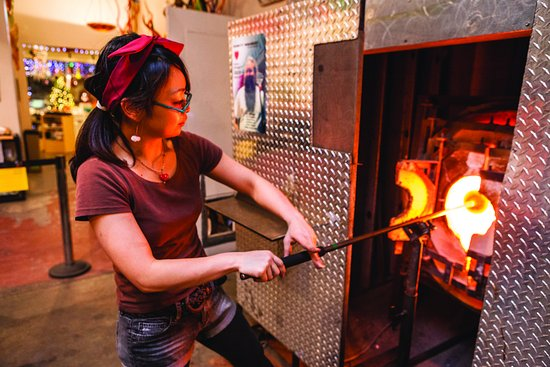 See glassblowing in action