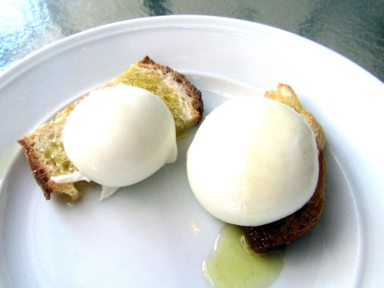 Yum - Freshly Made Mozzarella Cheese with Round Pond Estate Olive Oil, Napa Valley