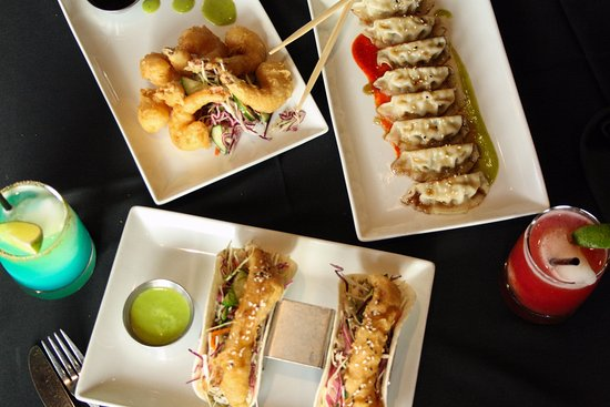 19 Okanagan Grill + Bar at Two Eagles Golf Course: Tempura Prawns, Gyoza, Fish Tacos