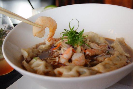 19 Okanagan Grill + Bar at Two Eagles Golf Course: War Wonton Soup with poached prawns