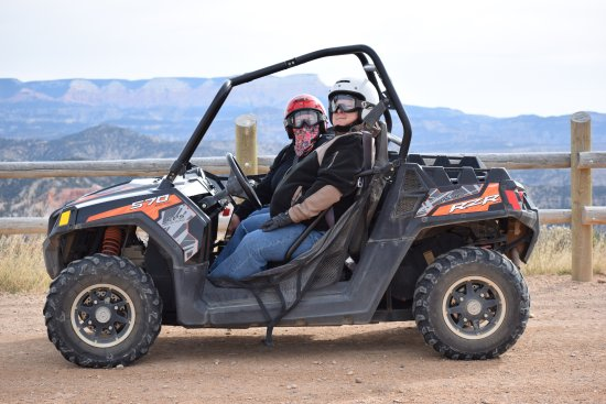 Bryce Canyon City, UT: My husband and I in our ATV.