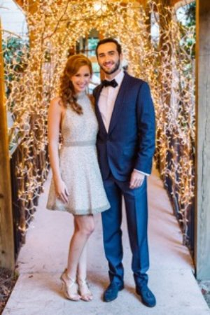 Wolfgang's Restaurant & Wine Bistro: Beautiful couple at their rehearsal dinner
