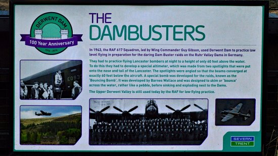 Bamford, UK: Dambusters Notice Fairholmes
