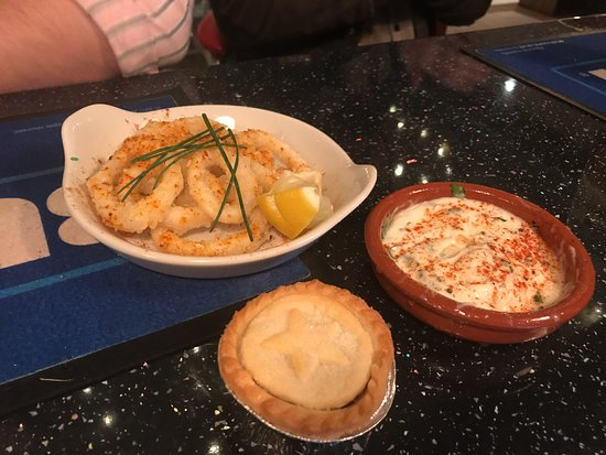 Hedon, UK: Calamari and other seafood
