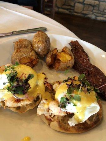 "Bullhead City, AZ: Lobster Eggs Benedict ""need I say more"""