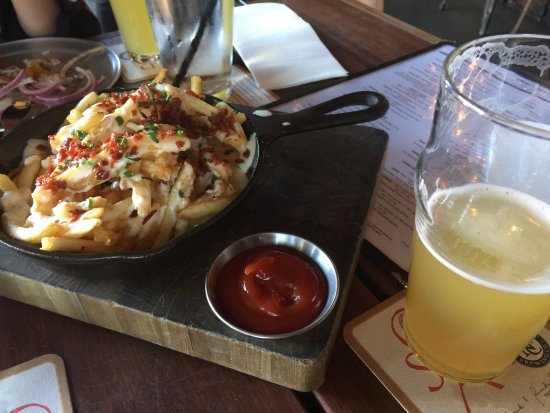 Stout Burgers & Beers: The loaded fries. Delicious! We ate the burger to fast to share pic.