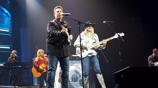 Branson, MO: He is a really good singer and so is she. She is Hank Williams Jr. bass player