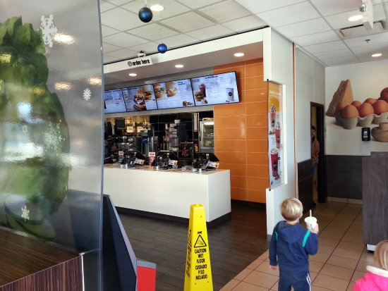 Addison, IL: the counter at McDonald's