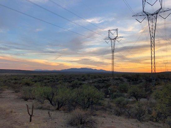 Benson, AZ: Sunset View on the 5 mile ride!