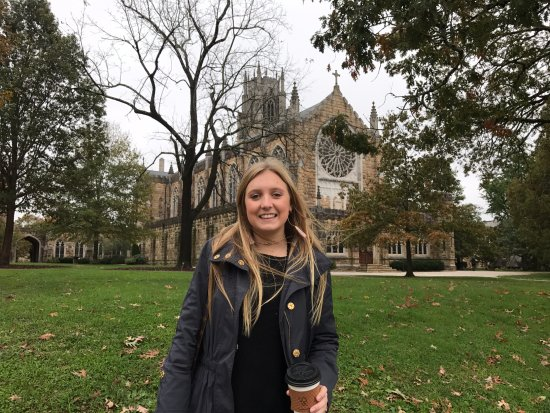 Sewanee, TN: My daughter in front of the church