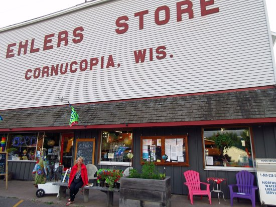 ‪‪Cornucopia‬, ‪Wisconsin‬: In front of the store‬