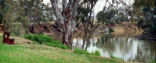 Moama, Australia: Each room as lawns at rear and overlooks the Murray River