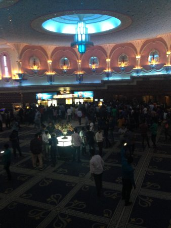 Raj Mandir Cinema: The hall just before the film theatre room, with a bar
