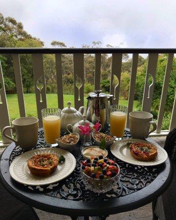 Wentworth Falls, Australia: Breakfast in the room