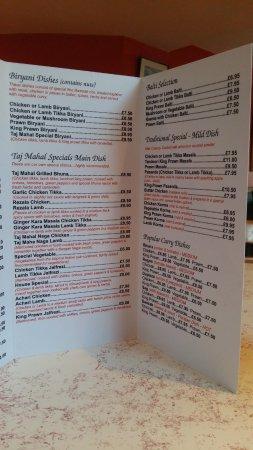 Peasedown St John, UK: An interesting new menue