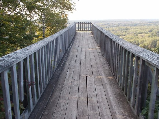 Άιρον Μάουντεν, Μίσιγκαν: Pine Mountain Ski Jump, Iron Mountain, MI. Walkway to view.