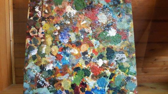 Koprivnica, Kroatien: Ivan Večenaj-Tišlarov, colour art palette
