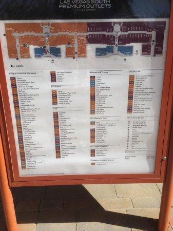 Las Vegas Premium Outlets - South: Directory