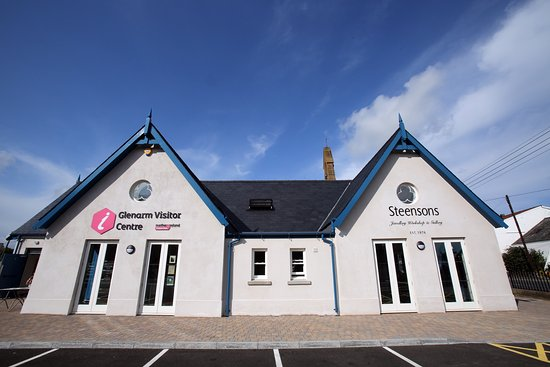 Glenarm Visitor Centre - the old Seaview Primary School building refurbished in 2015 by GBPT