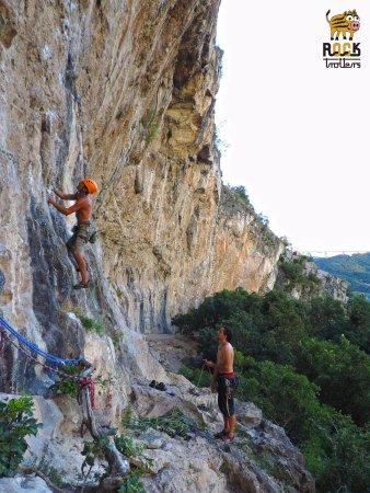 Slovenian Istria, Slovenia: Climbing in beautiful Mišja peč, Osp, Slovenia