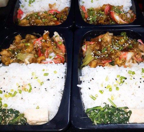 Prawn & Crab Teriyaki meal box at Rs 440