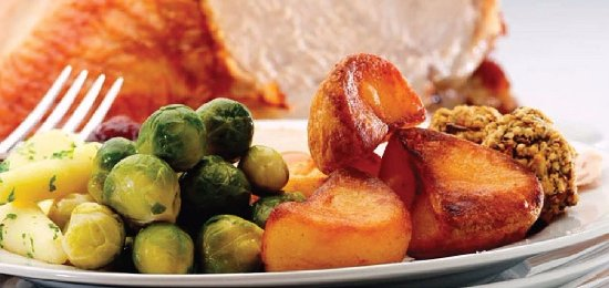 Ballycastle, UK: Turkey and Ham  Xmas lunch special