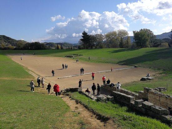Ancient Olympia: Стадион.