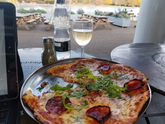 Delicious Pizza And White Wine Picture Of Lido Cafe Bar London