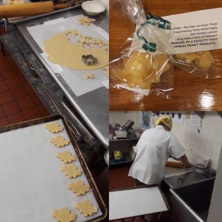 Killington, VT: made from scratch maple shortbread cookies in all the rooms at checkin