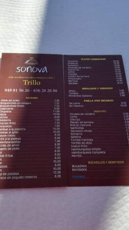 Trillo, Spain: Bar Sonova