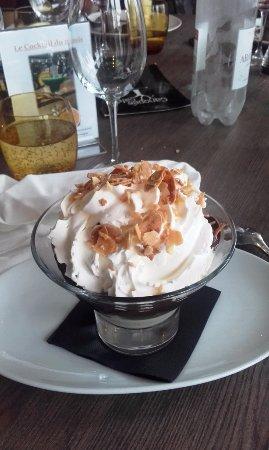 Merignac, Francia: Dame blanche en dessert