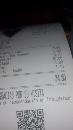 Luque, Spanien: La cuenta, por 15 euros por persona comes bien