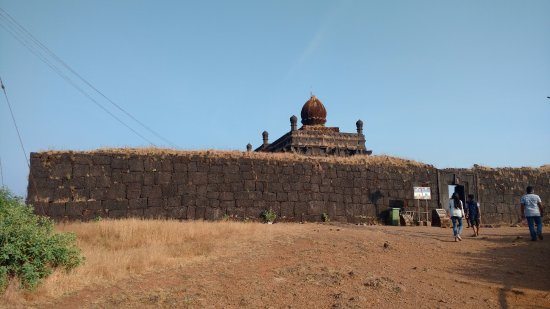 Raigad, India: overall view of temple