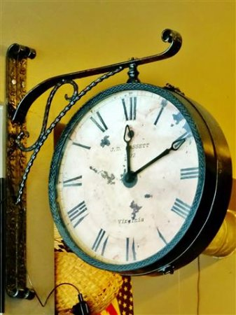Smoky Mountain Sub Shop: J.D. Bassett clock.