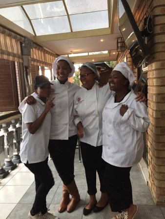 Ntozethu B&B: The students at the culinary school