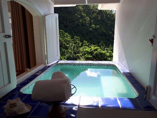 Queen's Gardens Resort & Spa: inside Jacuzzi/ mini pool in suite