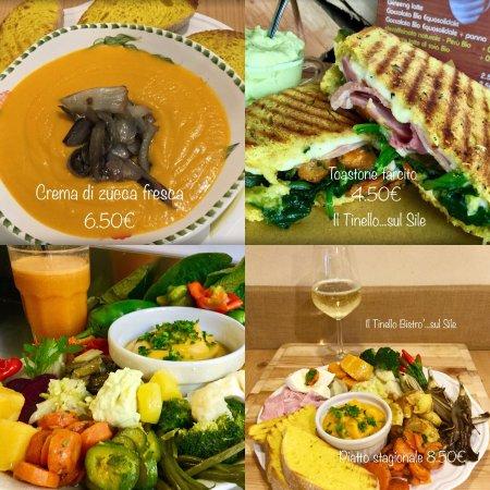 Dove mangiare sano a Casale sul Sile?Al Tinello pranzi naturali..Menù con centrifuga,🍷o 🍺BIO 1