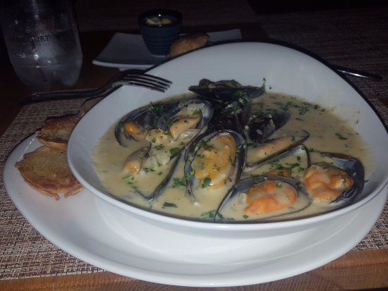 Monet's: You need to try the mussels here, the Moules Mariniere, were my favoritel