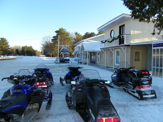 Sands on Golden Lake: We are located directly on the B101A snowmobile trails!