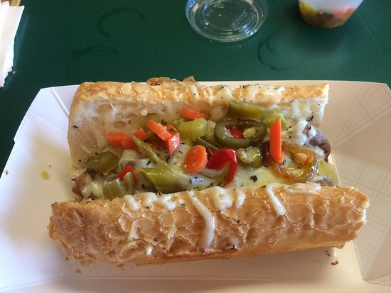 Burlington, WI: Italian Beef sub with giardinera