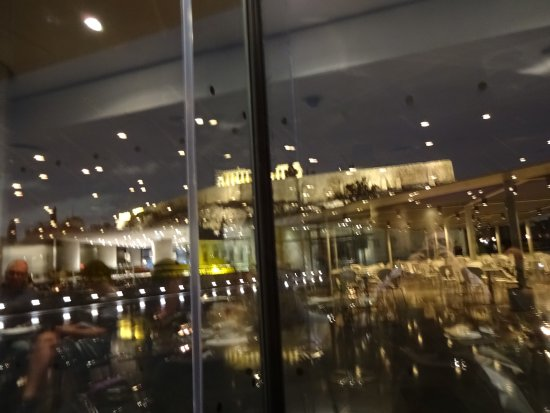 Restaurant at the Acropolis Museum : view