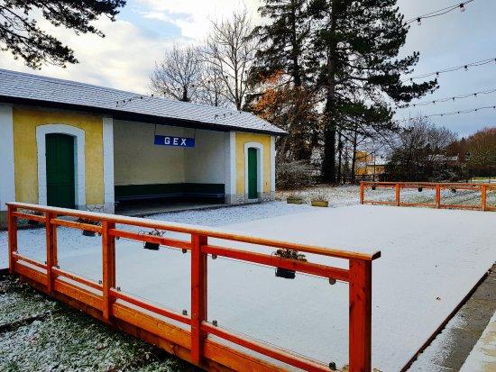 Gex, Francia: La terrasse enneigée