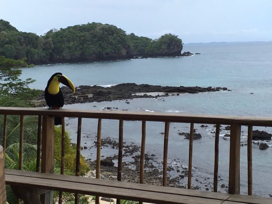 San Jose Island, Panama: Breakfast area, casual visitors