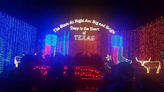 College Station, TX: Light displays on the hayride- some use actual words